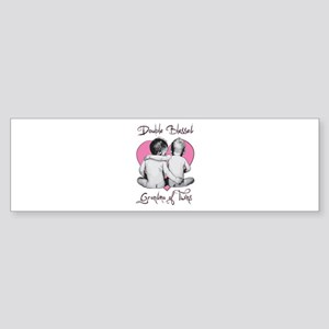Double Blessed Grandma of Twins Bumper Sticker
