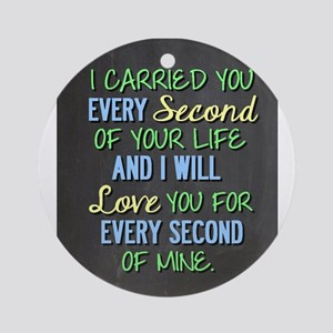 Miscarriage Quote Round Ornament