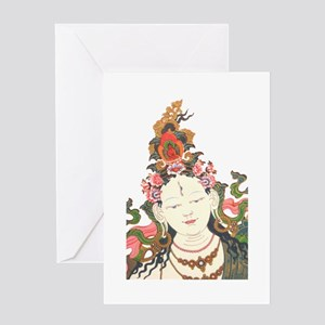 White Tara Greeting Card