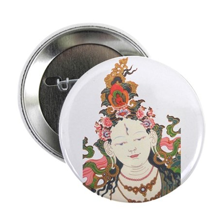 "White Tara 2.25"" Button"