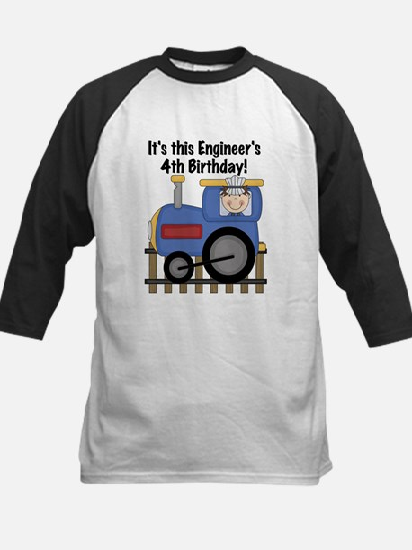 Engineer 4th Birthday Kids Baseball Jersey