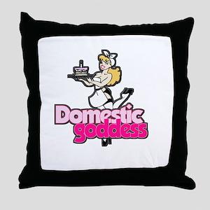 Domestic Goddess Throw Pillow