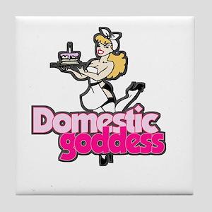 Domestic Goddess Tile Coaster