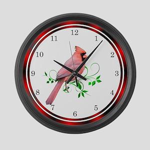 Exquisite Cardinal Large Wall Clock