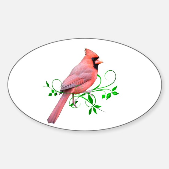 Cardinal Oval Decal
