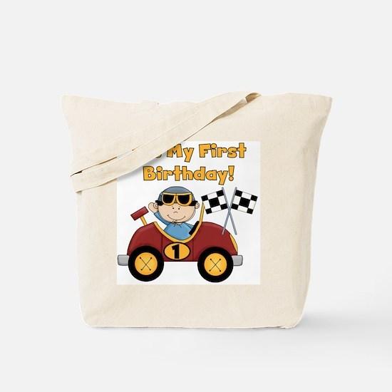 Race Car 1st Birthday Tote Bag