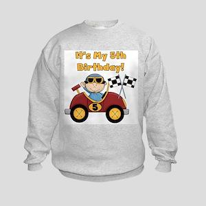 Race Car 5th Birthday Kids Sweatshirt