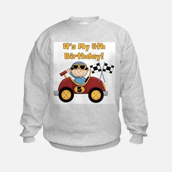 Race Car 5th Birthday Sweatshirt