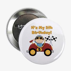 "Race Car 5th Birthday 2.25"" Button"