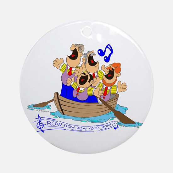 Row row row your boat. Ornament (Round)