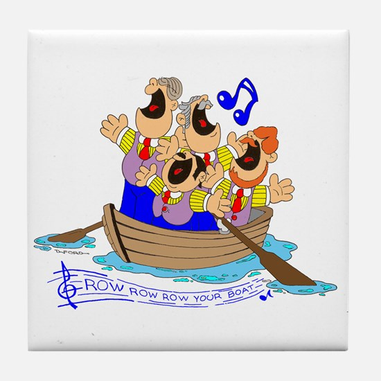 Row row row your boat. Tile Coaster