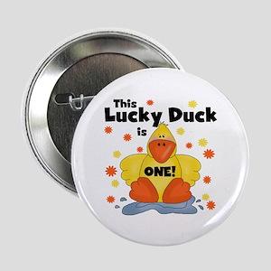 "Lucky Duck 1st Birthday 2.25"" Button"