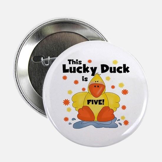 "Lucky Duck 5th Birthday 2.25"" Button"