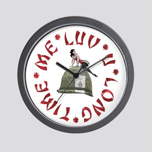 ME LUV U LONG TIME Wall Clock