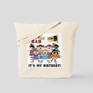 Cheerleader 9th Birthday Tote Bag