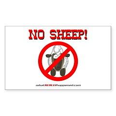 NO SHEEP! Rectangle Decal