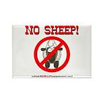 NO SHEEP! Rectangle Magnet