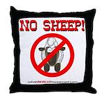 NO SHEEP! Throw Pillow