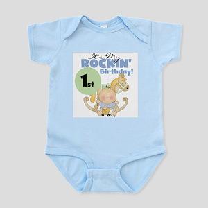 Boy Rockin' 1st Birthday Infant Bodysuit