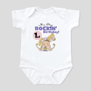 Girl Rockin' 1st Birthday Infant Bodysuit
