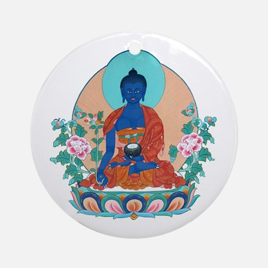 Medicine Buddha Ornament (Round)