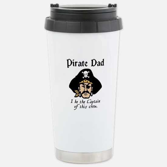Pirate Dad Stainless Steel Travel Mug