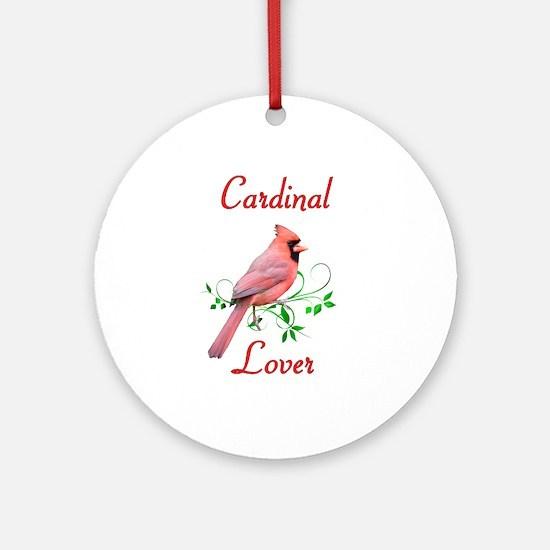 Cardinal Ornament (Round)