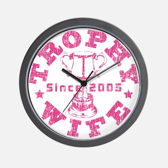 Trophy Wife since 05 Pink Wall Clock