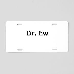 Dr. Ew Aluminum License Plate
