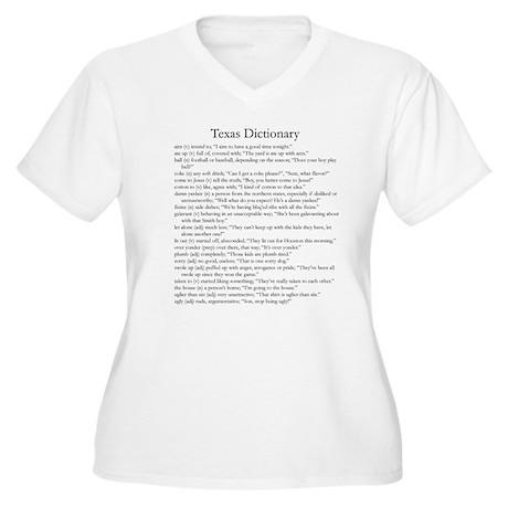 Texas Dictionary Women's Plus Size V-Neck T-Shirt
