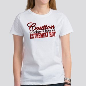 Caution: Contents Extremely Hot Women's T-Shirt