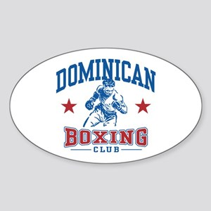 Dominican Boxing Oval Sticker
