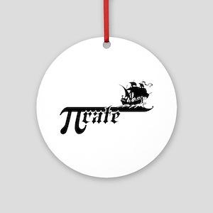 Pi rate Ship Ornament (Round)