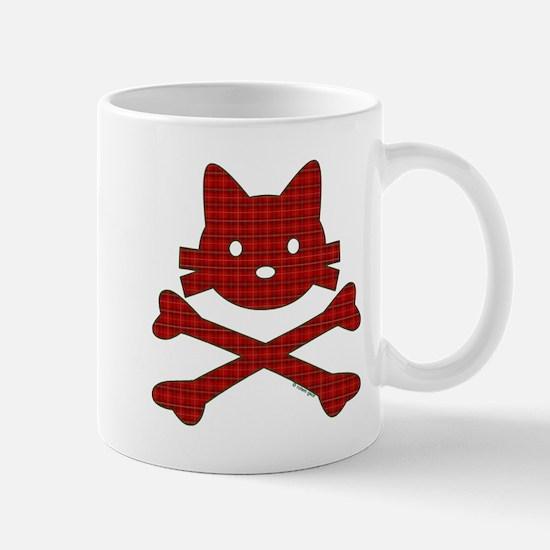 Plaid Kitty X-Bones by Rotem Gear Mug