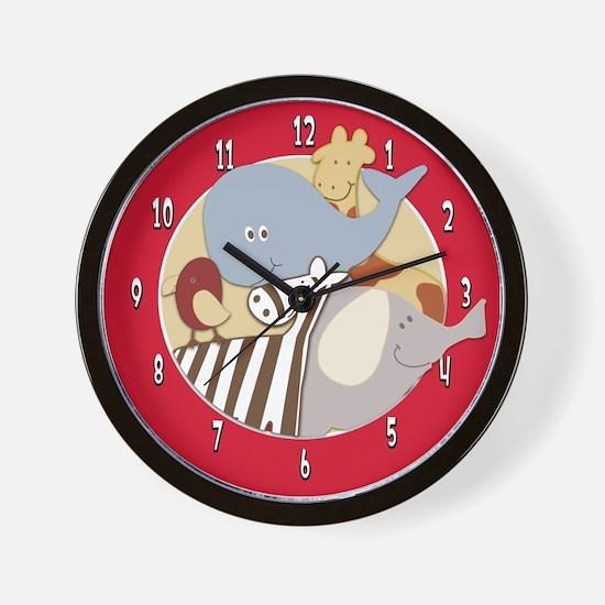 Alphabet Soup Animals Wall Clock