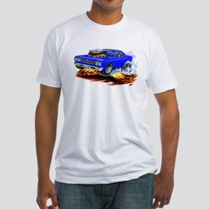 Roadrunner Blue Car Fitted T-Shirt