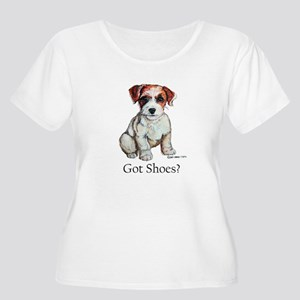 Jack Russell Shoes Women's Plus Size Scoop Neck T-