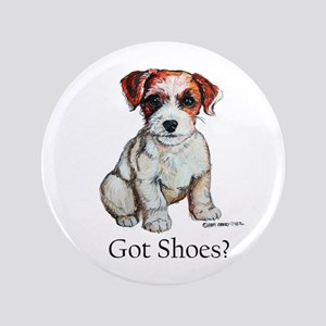 "Jack Russell Shoes 3.5"" Button"