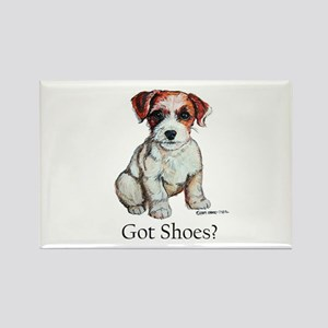 Jack Russell Shoes Rectangle Magnet