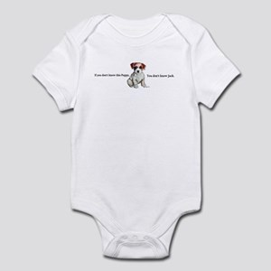 Don't Know Jack Russell Infant Bodysuit