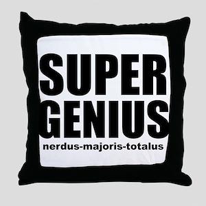 Super Genius Throw Pillow