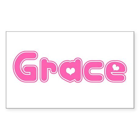 """Grace"" Rectangle Sticker"