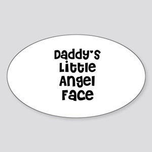 Daddy's Little Angel Face Oval Sticker