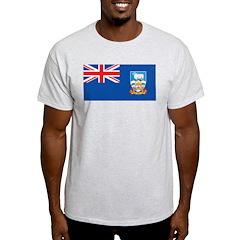 Falkland Islands Flag Ash Grey T-Shirt