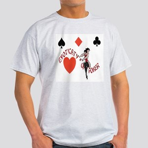 EXOTICBTY OF POKER Ash Grey T-Shirt