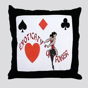 EXOTICBTY OF POKER Throw Pillow