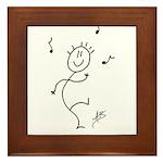 The Dancing Smiley Man - Carp Framed Tile
