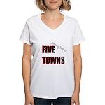 Five Towns Women's V-Neck T-Shirt