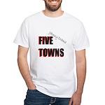 Five Towns White T-Shirt