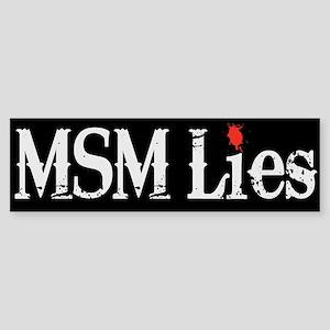 Main Stream Media Lies Sticker (Bumper)